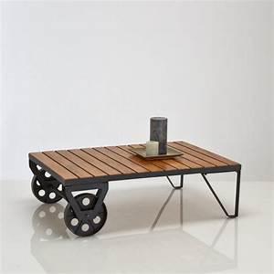 Roulettes Industrielles Anciennes : table basse industrielle 31 id es pour votre salon ~ Teatrodelosmanantiales.com Idées de Décoration