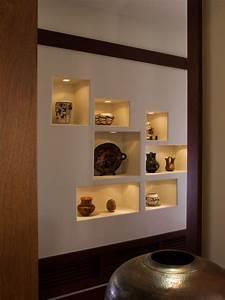 Native American Pots Display - Craftsman - Hall - san