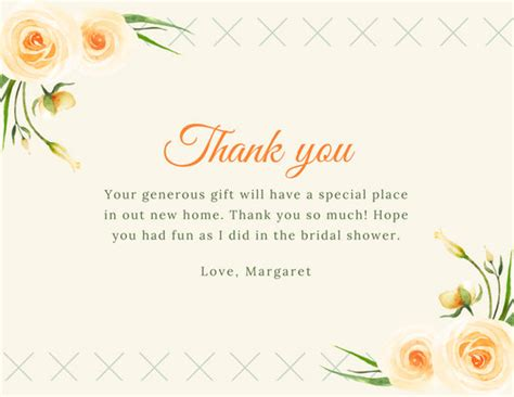 thank you for hosting card template customize 171 bridal shower thank you card templates