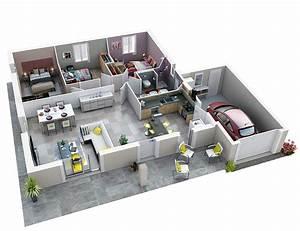 Plan Interieur Maison : superbe plan interieur de maison lgx52 slabtownrib ~ Melissatoandfro.com Idées de Décoration