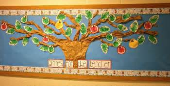 Classroom Tree Decoration by Easy Preschool Apple Bulletin Board With Kids Hand Prints
