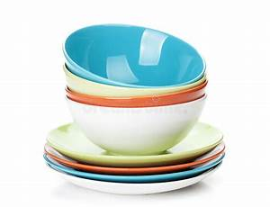 Crockery In Sinhala Plate Bowl Colorful Bowls And Plates Royalty Free Stock Photo Image