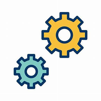 Settings Icon Vector Clipart Graphics System
