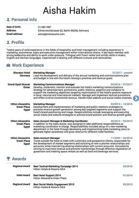 Marketing Resumes by 10 Real Marketing Resume Exles That Got Hired At