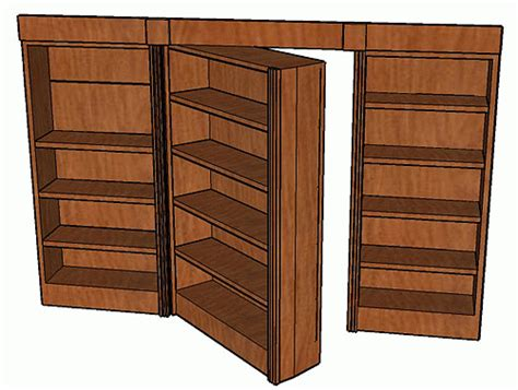 How To Build A Bookcase Door by Hidden Pivot Bookcase Door Plans Swing Out Stashvault