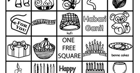 Kwanzaa Bingo Board No.1 Coloring Page