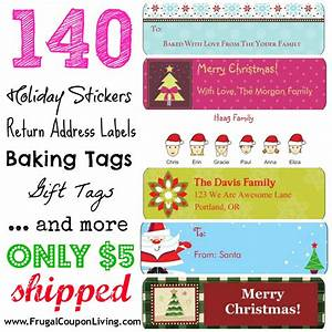 hot deal 140 holiday return address labels 5 shipped With discount return address labels