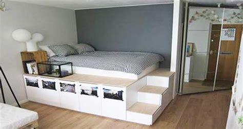 diy rangement chambre diy déco lit avec rangement à faire avec 3 fois rien