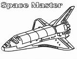Coloring Spaceship Space Shuttle Pages Nasa Master Netart Getdrawings sketch template