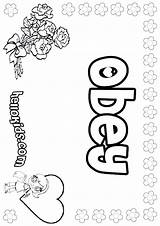 Obey Coloring Pages Children Sheets Parents Obedience Sheet Printable Crafts Bible Names Sunday Obeying Girly Craft Hellokids Preschool Worksheets Activities sketch template