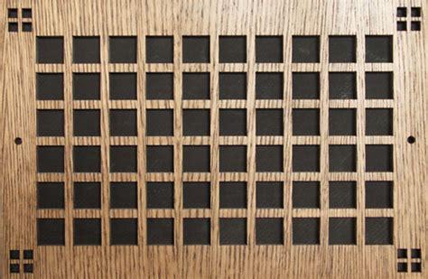 wood air return decorative wall grille
