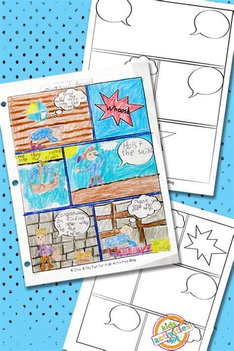 comic book templates  kids printable creative kid
