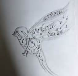Music Note Bird Drawing
