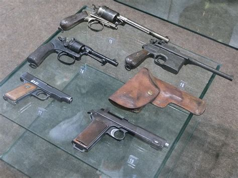 Nice Selection Of Ww1 Pistols At A Small War Museum