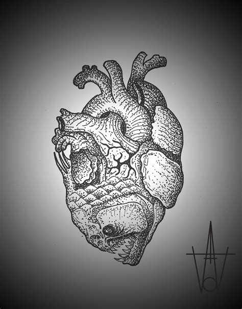 heart fish tattoo sketch  tattoo ideas gallery