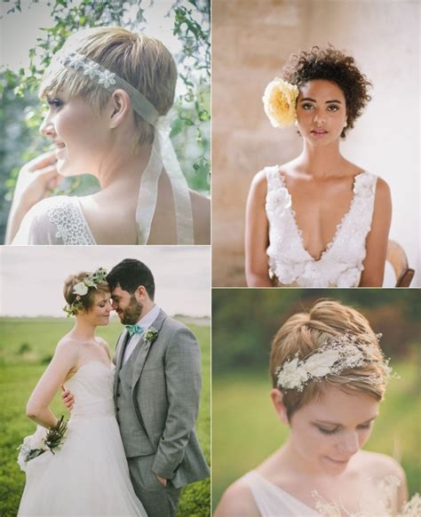Pixie Hairstyles For Wedding by 9 Wedding Hairstyles For Brides With Hair