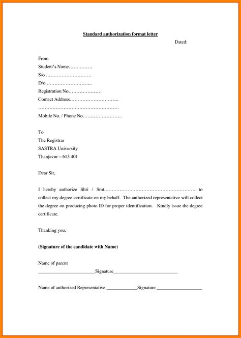 top authorization letter formats template daily roabox