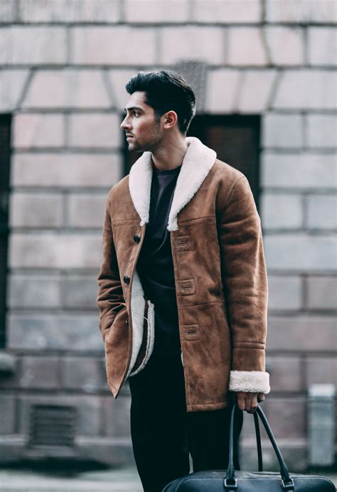 Shearling Coat From Reiss Street Style Dvsn Aviator