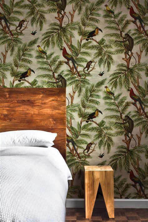 jungle print wallpaper  graduate collection
