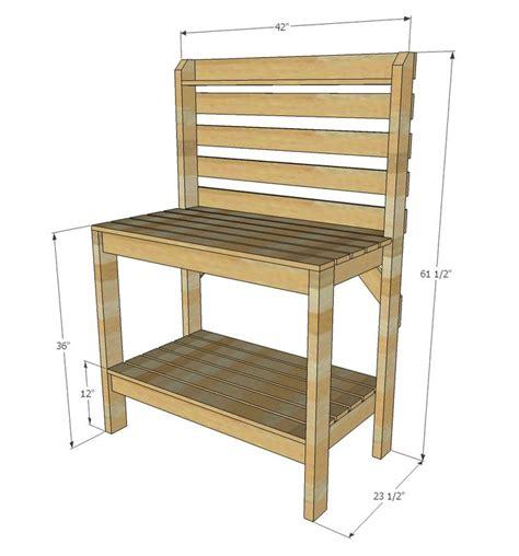 white build a ryobination potting bench free and