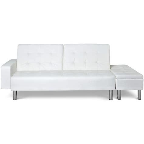 canapé lit avec banquette coffre zeal couleur blanc