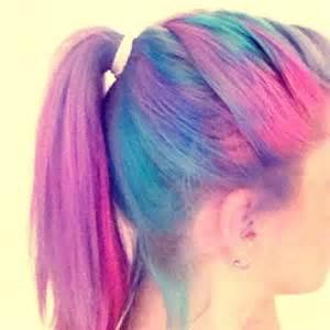 Rainbow Pastel Hair Tumblr