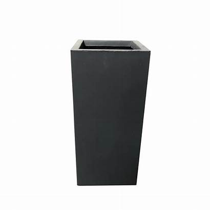 Kante Concrete Planter Tall Charcoal Lightweight Rectangle
