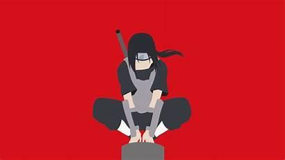 Itachi Naruto Uchiha Anime Background Minimal 4k