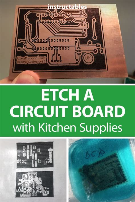 Etch Circuit Board With Kitchen Supplies Electronics