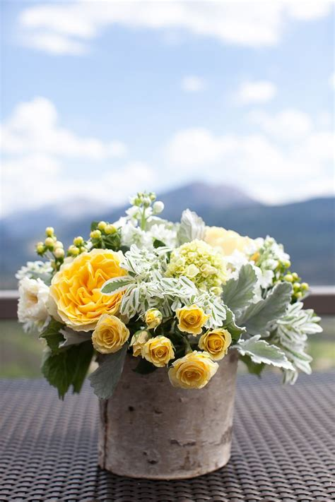 Yellow And White Arrangement By Mountain Flowers Of Aspen