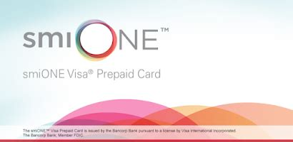 Maybe you would like to learn more about one of these? smiONE Visa Prepaid Card - Android app on AppBrain