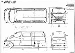 Toyota Hiace 1995-2001 Blueprint