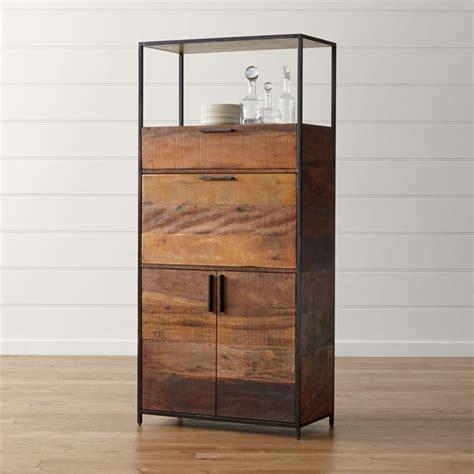 clive bar cabinet reviews crate  barrel
