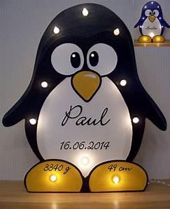 Bild Mit Geburtsdaten : pinguin lampe pingu schlummerlicht mit namen daten geschenk geburt taufe ebay ~ Frokenaadalensverden.com Haus und Dekorationen