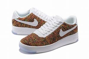 femme air force 1 flyknit orange et blanche,air force one basse