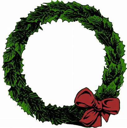 Wreath Clipart Xmas Clip December Wreaths Domain