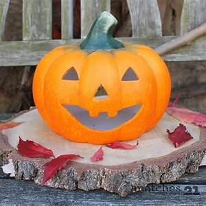 Halloween Deko Außen : jack o 39 lantern halloween k rbis windlicht 21x19 cm ton ~ Jslefanu.com Haus und Dekorationen
