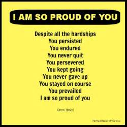 I AM so Proud of You Quotes