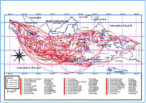 flight route map  airport  indonesia