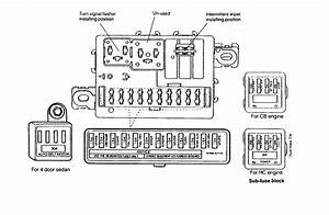 Daihatsu Charade  1990 - 1992  - Fuse Box Diagram