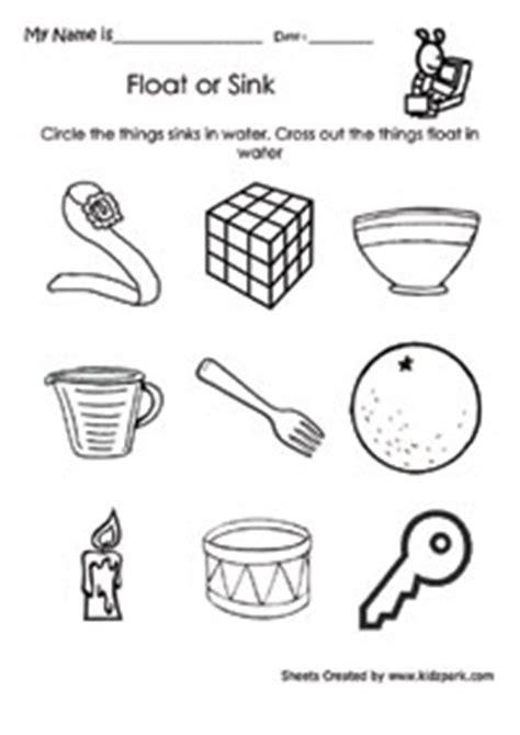 circle    sinkskindergarten activity sheets
