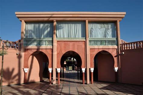 Modern Architecture In Marrakech, Morocco  Stock Photo