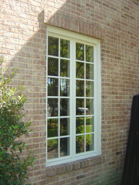 jeldwen wood casement windows  simulated divided lite grids trim packed exterior