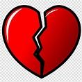 Broken heart Symbol Love, just cause transparent ...