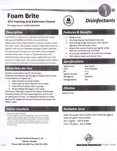 Ajax Bathroom Cleaner Msds by Disinfectant Cleaners And Germicidal Janice Sales Company