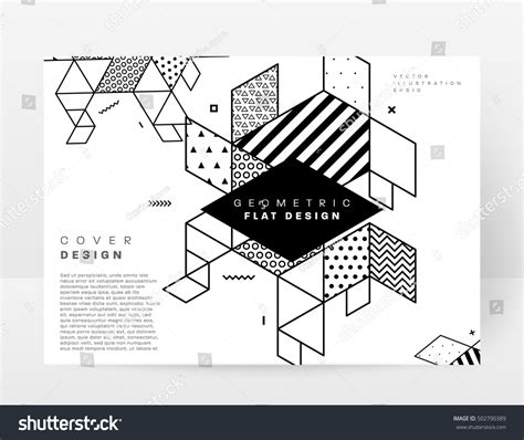 geometry template geometric background template covers flyers banners stock vector 502790389