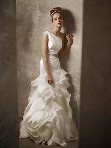 one shoulder ivory drop waist wedding dress by white by With white by vera wang wedding dress