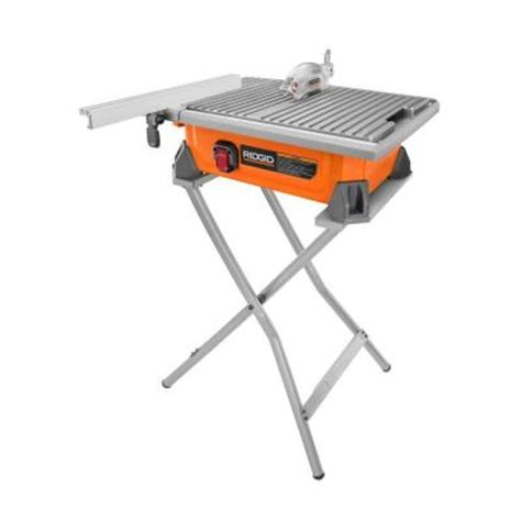 Ridgid Tile Saw Stand by Ridgid 7 In Tile Saw With Stand R4020sn The Home Depot