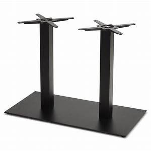 Pied De Table Metal : double pied de table rambou en m tal peint 50cmx100cmx73cm noir ~ Teatrodelosmanantiales.com Idées de Décoration