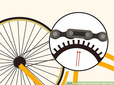 bike chain rust remove process around